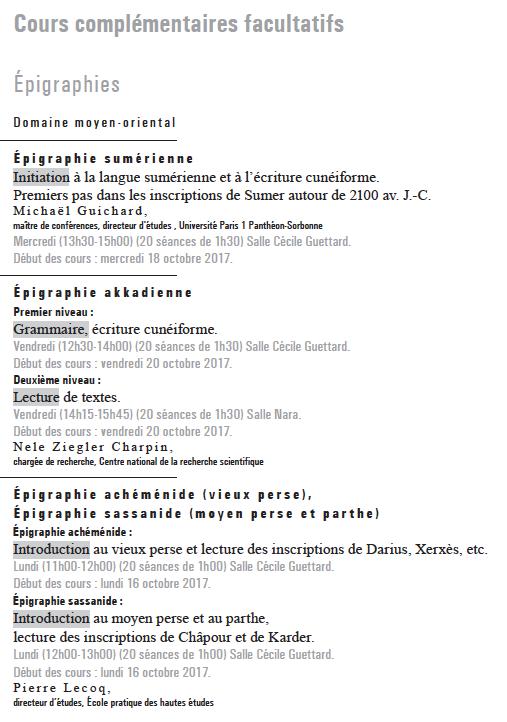 Programme 2017-18